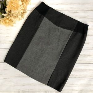 Halogen Petites Color Block Pencil Skirt Gray
